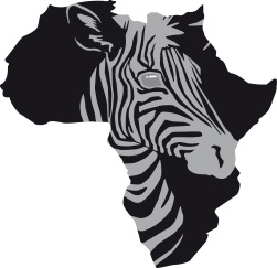 Illustration afrikanische Zebra